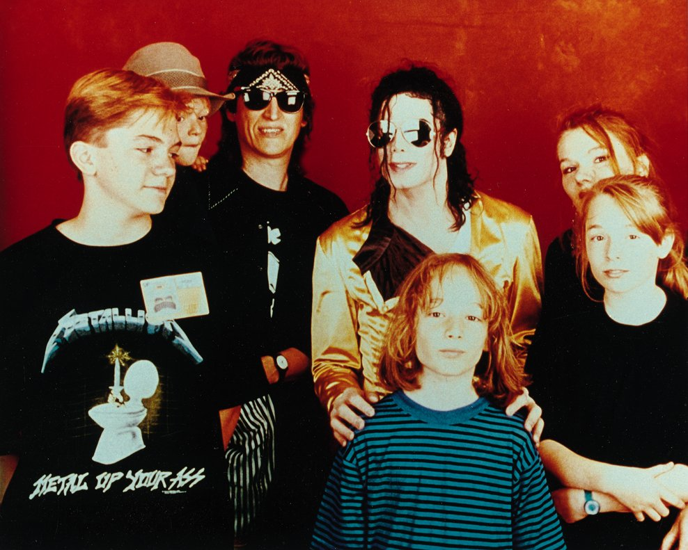 The Helnwein family and Michael Jackson