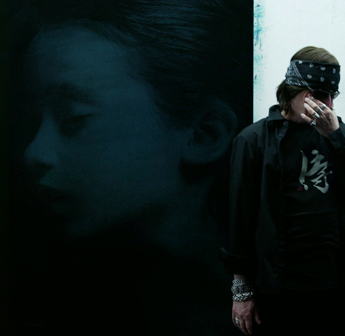 Helnwein in his Los Angeles Studio