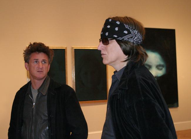 Sean Penn and Gottfried Helnwein