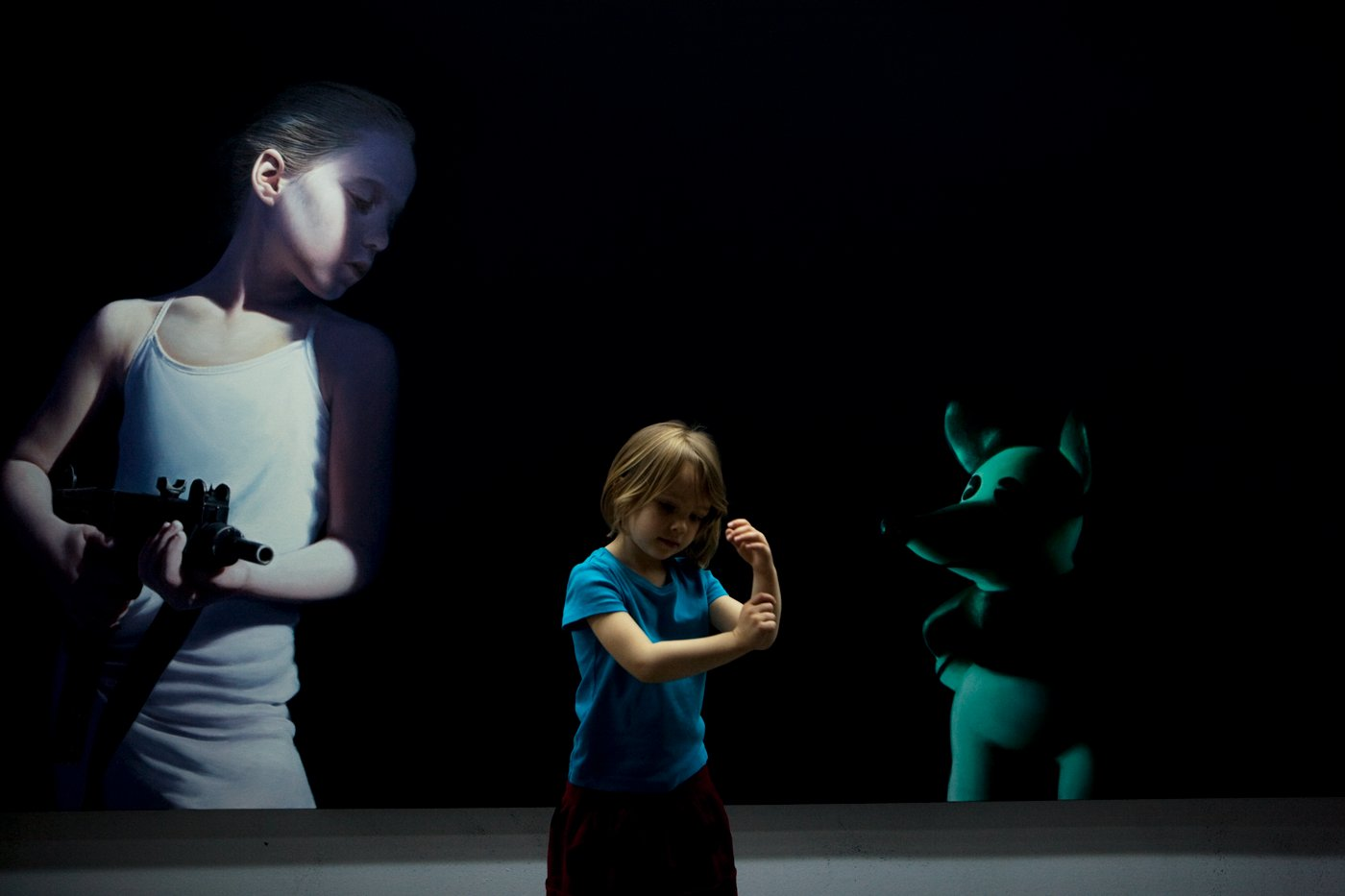 Croí (cree) Sequoia Helnwein in the studio