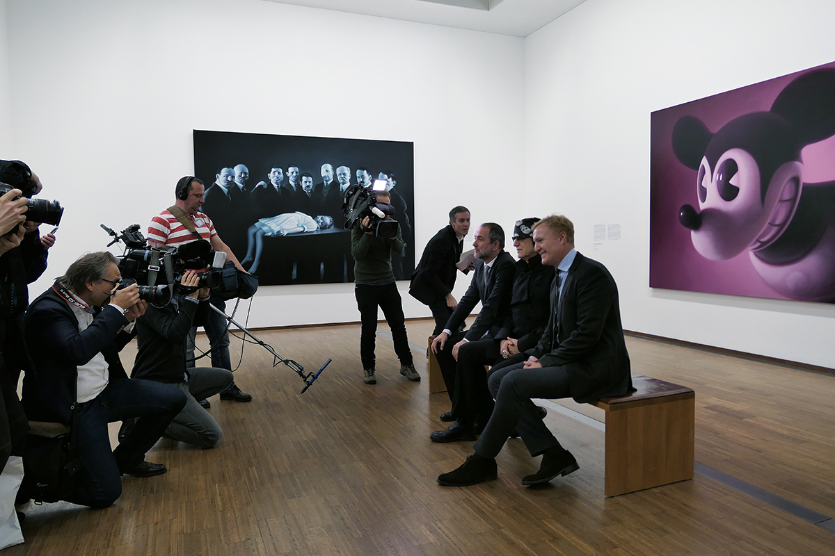 Thomas Drozda, Minister for Arts and Culture, Gottfried Helnwein and Klaus Albrecht Schröder, Director of the Albertina