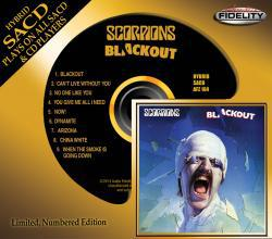 "SACD (Super Audio CD) version of SCORPIONS's classic 1982 album ""Blackout"""