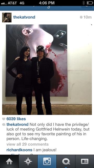 Instagram - Kat von D and Gottfried Helnwein