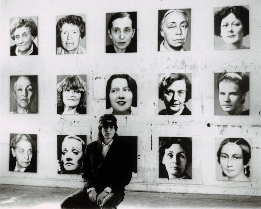 Helnwein with his 48 portraits