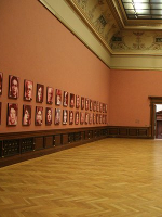 Confrontation-of-the-48-Portraits-by-Gerhard-Richter-and-the-48-Portraits-by-Gottfried-Helnwein-as-a-double-installation-in-the-exhibition-Undeniable-me-at-Galerie-Rudolfinum-in-Prague