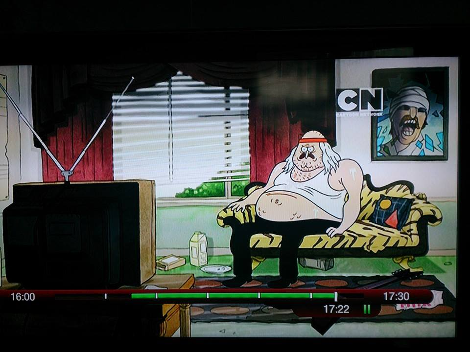 "Helnwein painting in an episode of ""Regular Show"" on Cartoon Network."