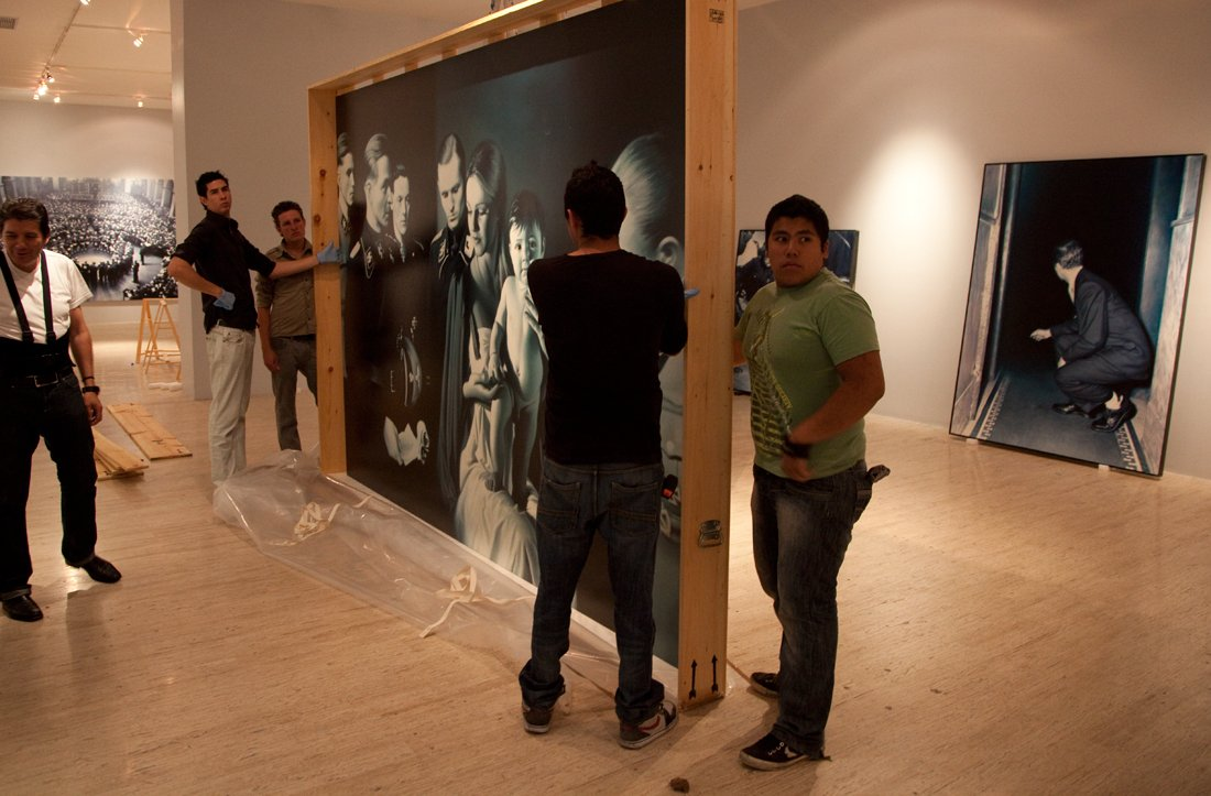 Preparation for the solo exhibition Gottfried Helnwein