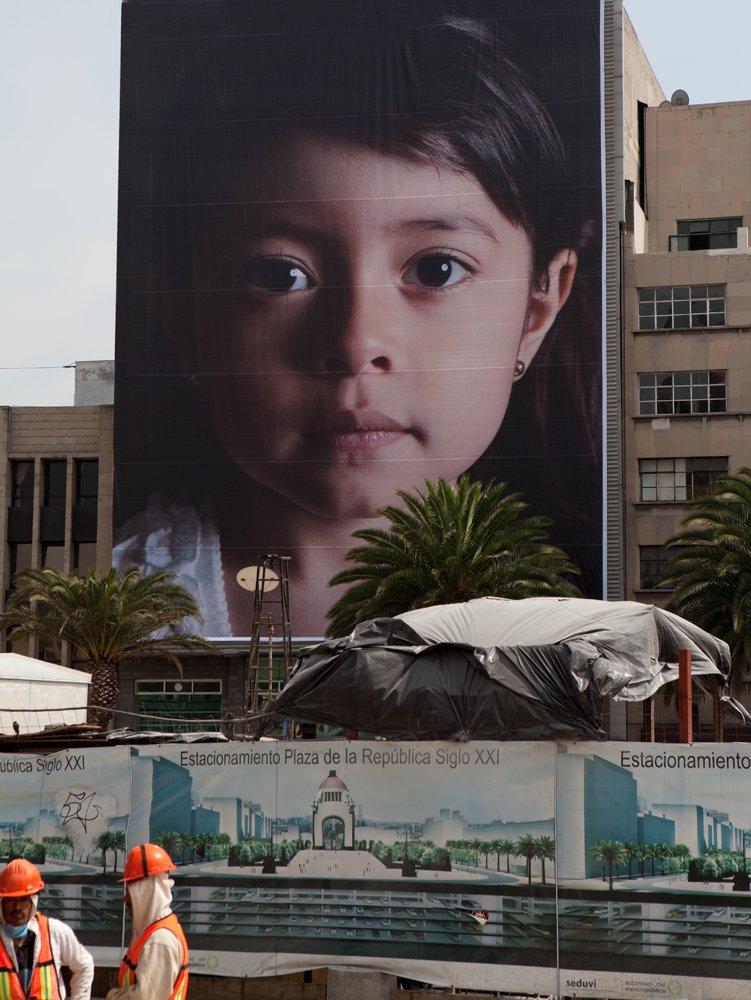 Installation at the Monumento a la Revolución