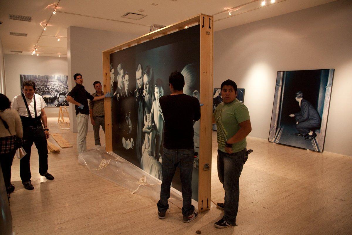 Preparation for the solo exhibition Gottfried Helnwein