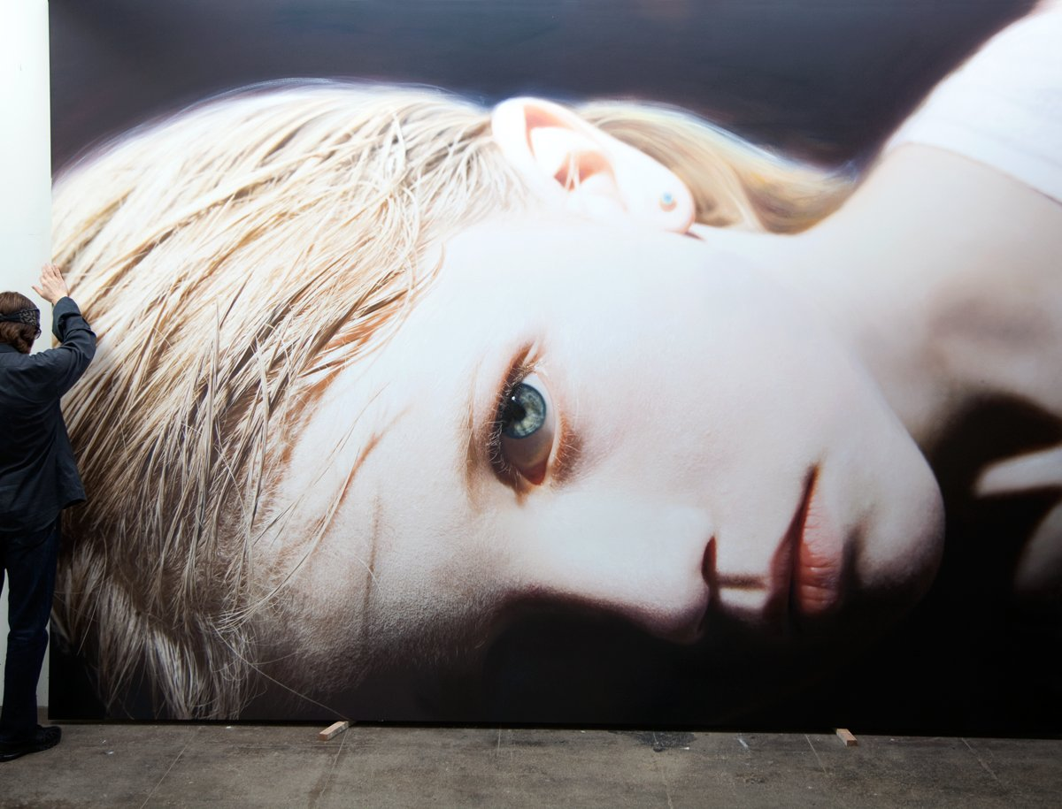 Helnwein and Head of a Child 14 (Anna)