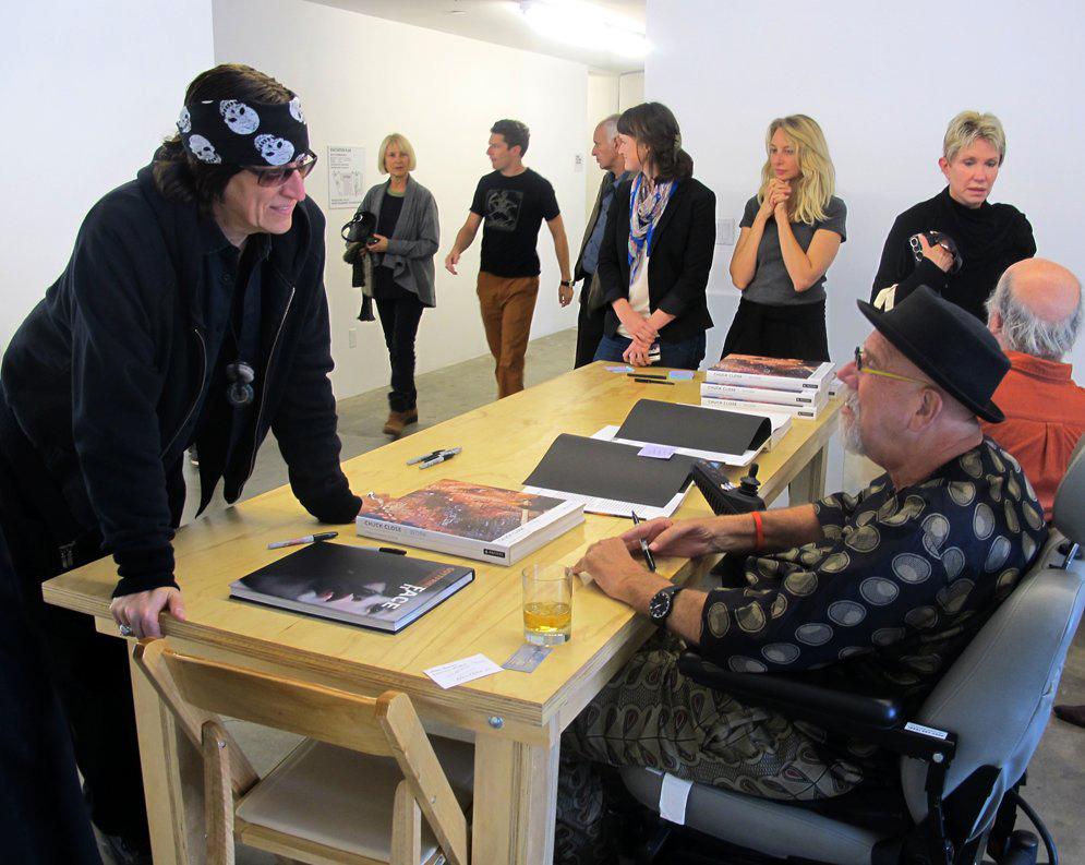 Helnwein and Chuck Close
