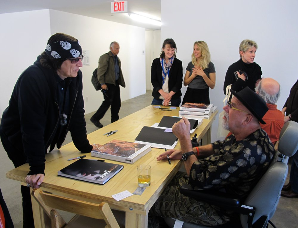 Helnwein and Chuck Close