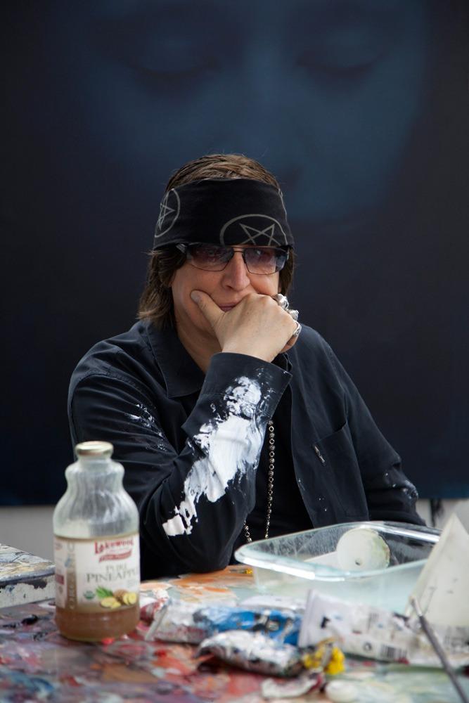 Helnwein at his studio in Los Angeles
