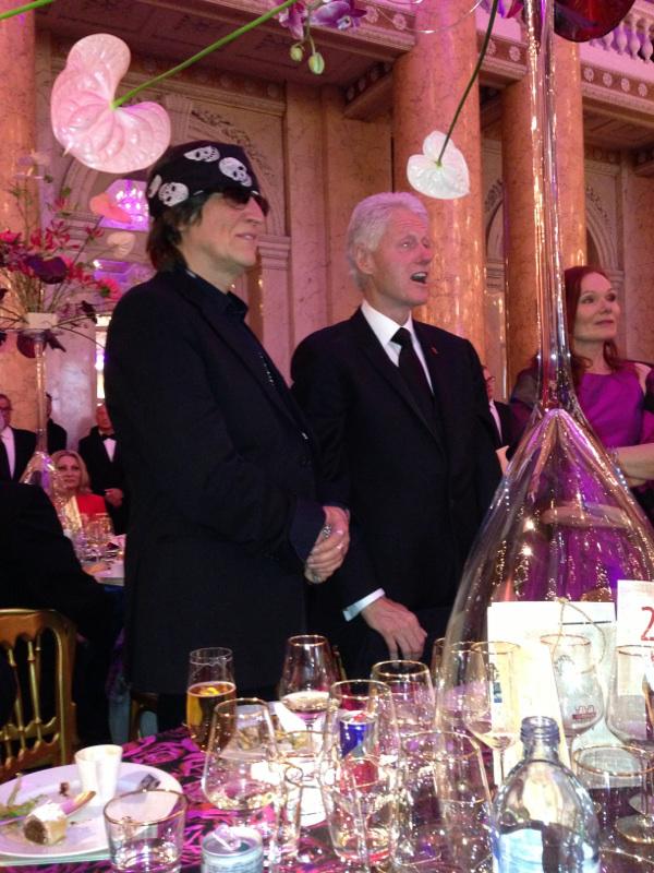 Gottfried Helnwein and Bill Clinton