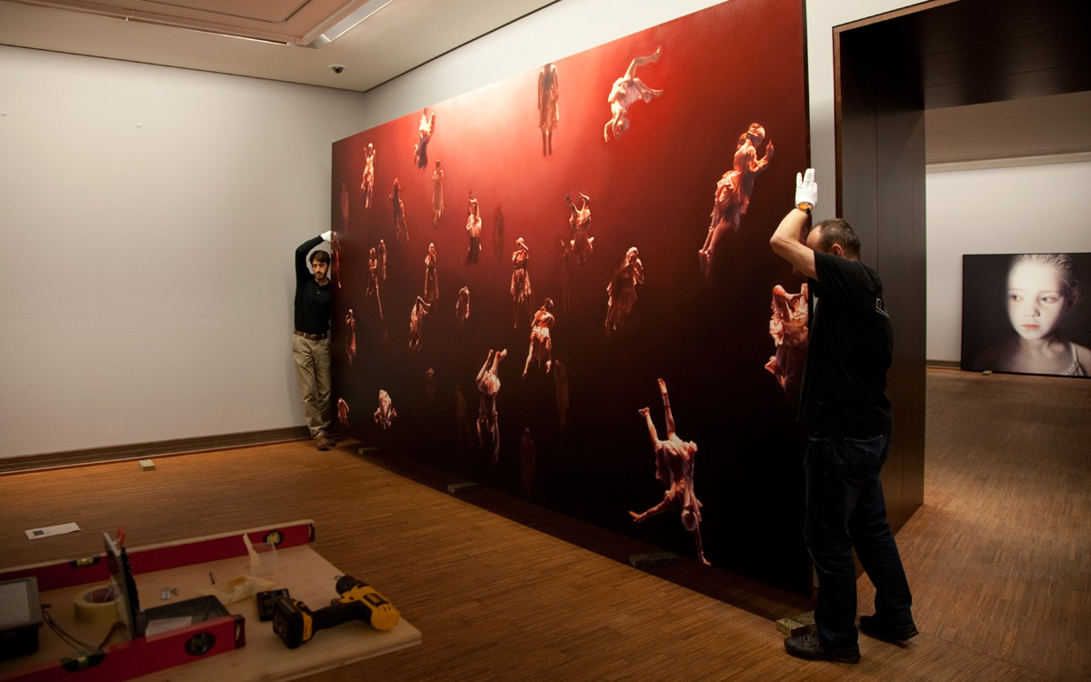 Preperation for the Helnwein-Retrospective at the Albertina Museum Wien