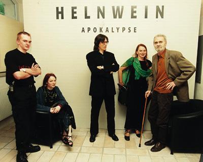 Cyril, Mercedes, Gottfried and Renate Helnwein and H.C.Artmann