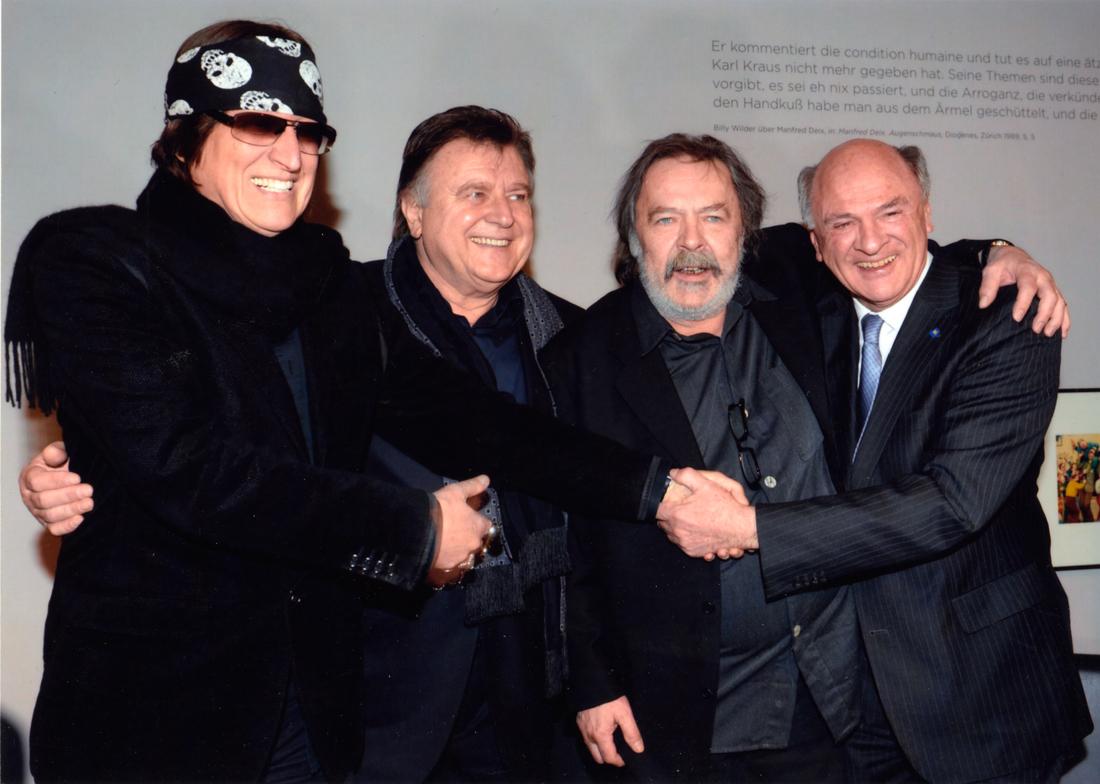 Helnwein, Lukas Resitarits, Manfred Deix und Landeshauptmann Erwin Pröll