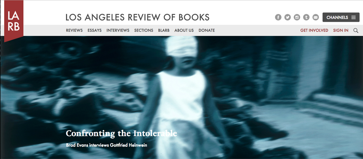 Brad Evans talks with Gottfried Helnwein, Los Angeles Review of Books