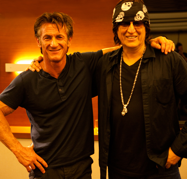 Sean Penn and Helnwein