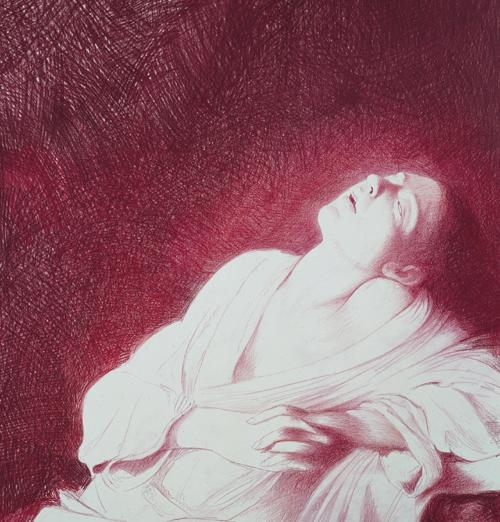 Fainting Magdalene (after the lost Caravaggio painting)