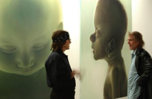 Gottfried Helnwein and Nick Nolte