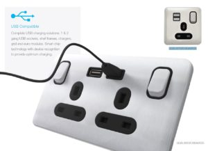 Schneider Lisse Screwless Deco USB