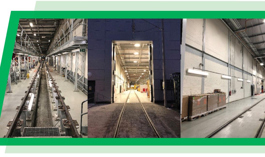 Lighting Upgrade for Sandyford LUAS Depot Extension
