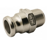 """GISS 884539 MALE ADAPTATOR -TYPE F 1"""" STAINLESS STEEL"""