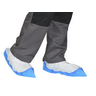 GISS 861600 DISPOSABLE OVERSHOE 400MM WHITE/BLUE PACK OF 50