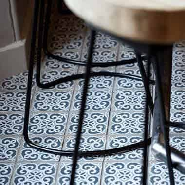 A nod to Spain in the tiles found in the bar area
