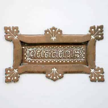 Ornate brass letterbox