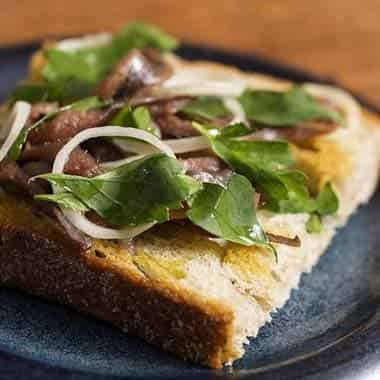 Ortiz Anchovies, Shallots and Parsley toast