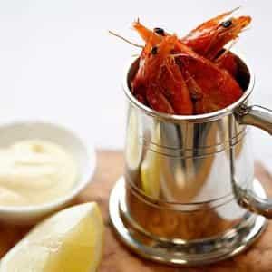 Tankard of prawns