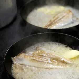 Delicious fish dishes in progress