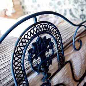 Traditional iron bed frame