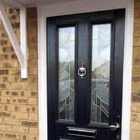 TPS | Recently fitted door with bespoke glass design