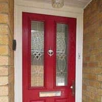 TPS | Recently fitted brightly coloured front door