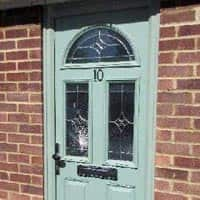 TPS | Recently fitted mint green door