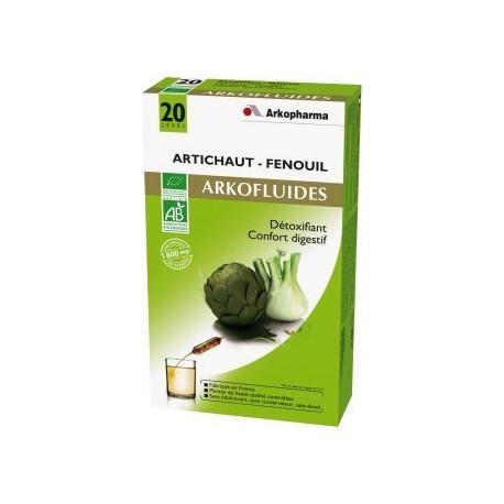 Arkofluides Artichaut Fenouil - 20 ampoules