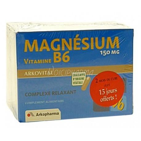Magnesium +Vit B6 - 60 gélules - Lot de 2