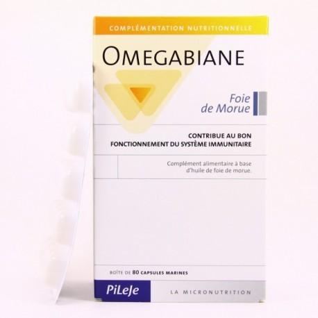 Omegabiane Huile Foie Morue - 80 capsules