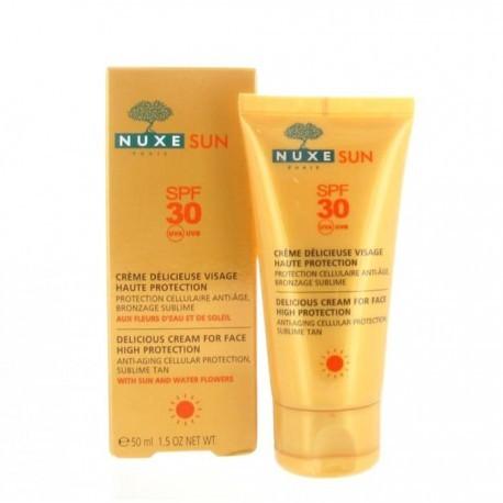 Sun Crème délicieuse visage haute protection SPF 30 50 ml