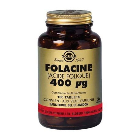 Vitamine B9 Acide Folique - 100 gélules