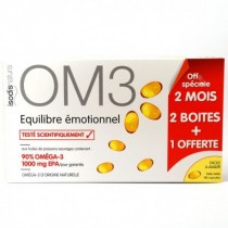 OM3 Equilibre Emotionnel - 60 Caps x 2 + 1 OFFERT