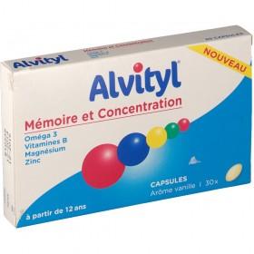 Alvityl concentration mémoire - 30 comprimés