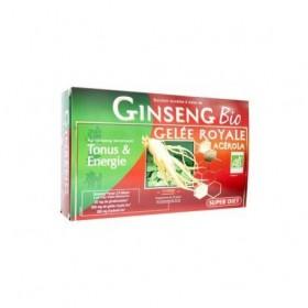 Ginseng, Gelee Royale Bio - 2 Lots de 20 ampoules x 15 ml