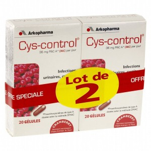 Lot cys control - 2x20 gélules