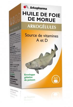 Arkogélules huile morue - 60 gélules