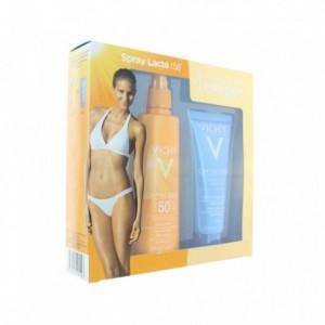 Capital soleil spray lacté peaux sensibles SPF 50 200 ml + après soleil OFFERT