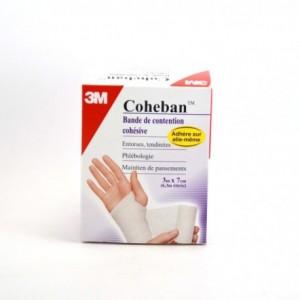 coheban-bandes-de-contention-3m-x-7cm-blanc
